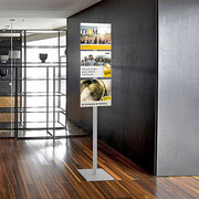 floor standing display with poster pockets smart floor
