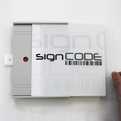 signcode panel, PS, 210mm (h)