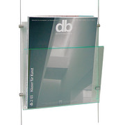 flybag acrylic brochure tray in glassgreen