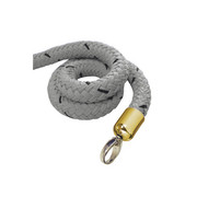stopper tex rope grey, connector brass-plated