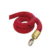 stopper tex rope red, connector brass-plated
